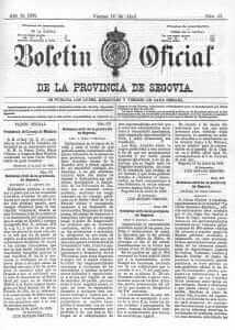 boletín oficial de la provincia de segovia abril 1905