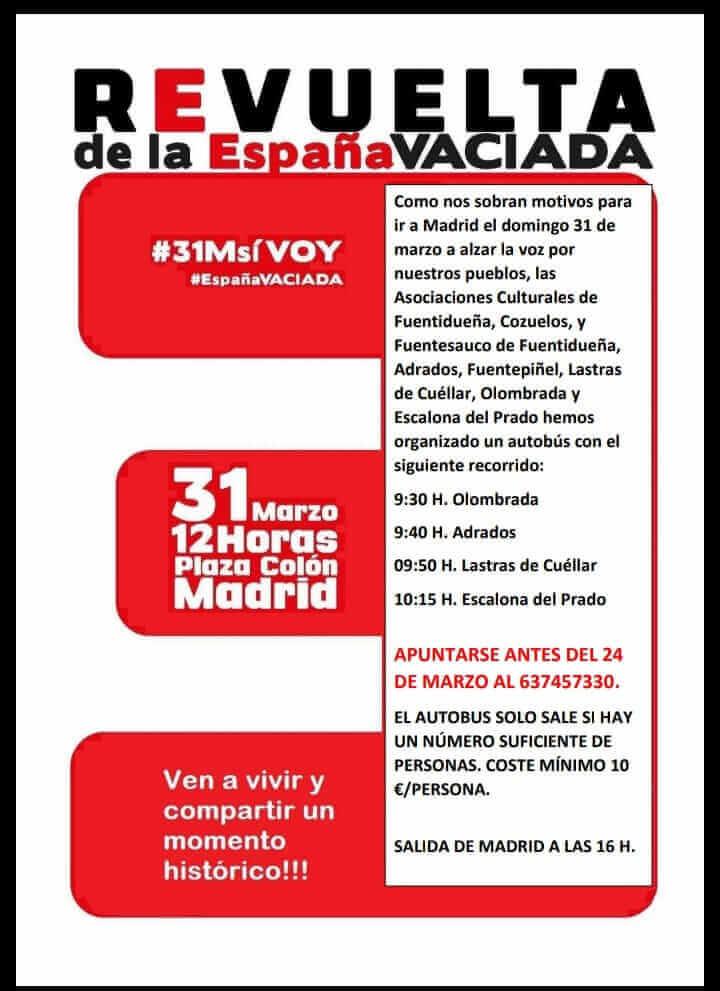 cartel revuelta de la España vaciada
