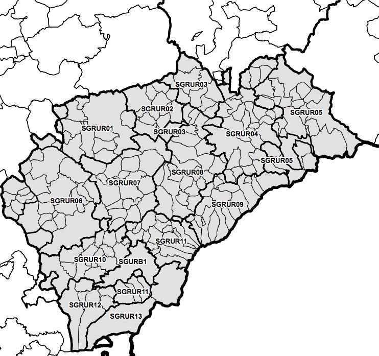 Unidades básicas de ordenación y servicios del territorio de Castilla y León